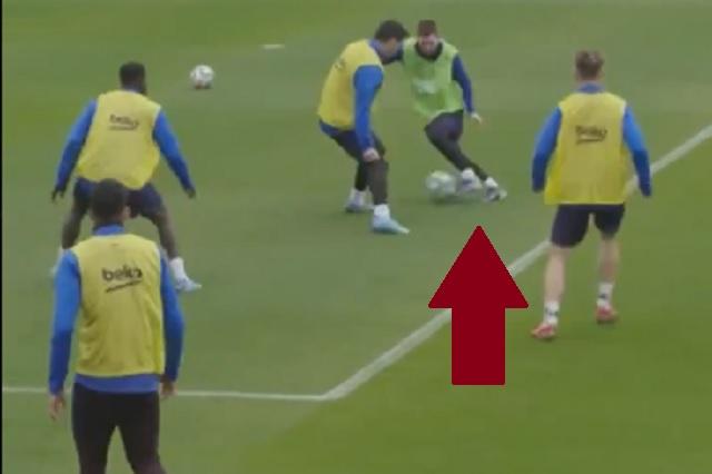 Así se luce Messi durante entrenamientos