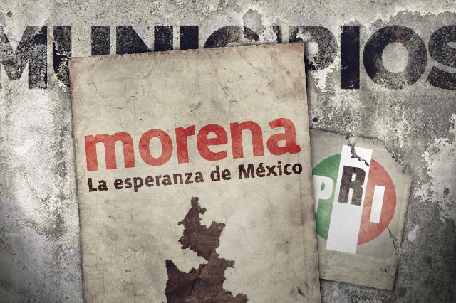 PRI gana más municipios pero Morena gobernará a más gente