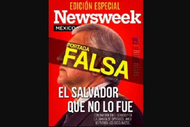 Newsweek desmiente portada falsa contra AMLO