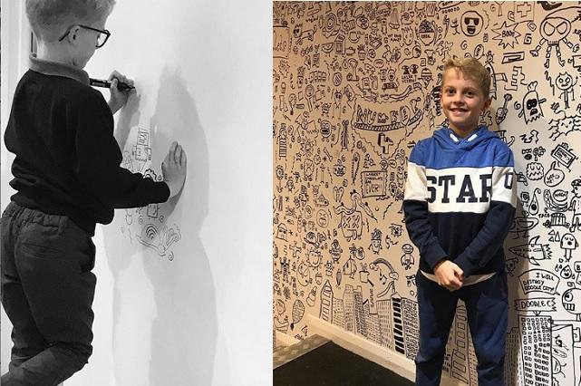 Lo regañaban por dibujar en clase y restaurante lo contrata para decorar el lugar
