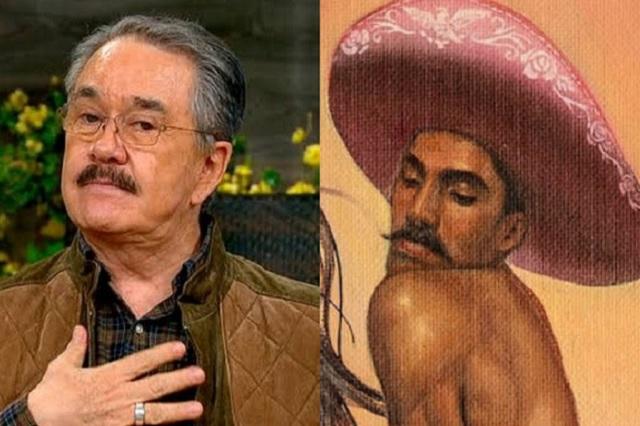 Foto: Pedro Sola se deja ver como en la pintura de Zapata afeminado