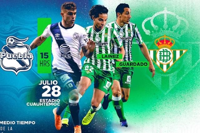 Club Puebla pone al 2x1 localidades vs Betis