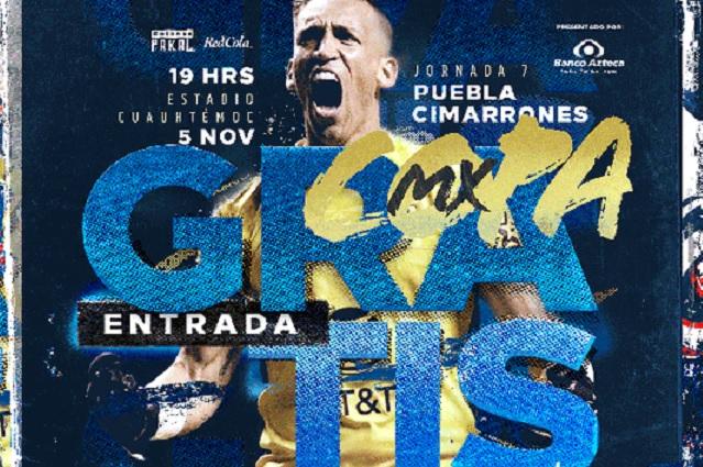 Club Puebla anuncia entrada gratuita para su último partido de Copa