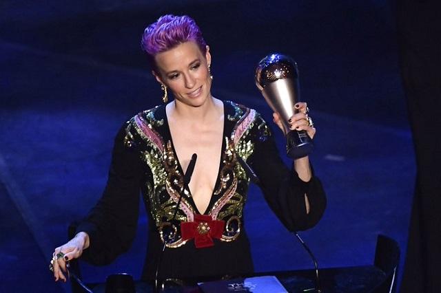 Megan Rapinoe da contundente discurso durante premiación