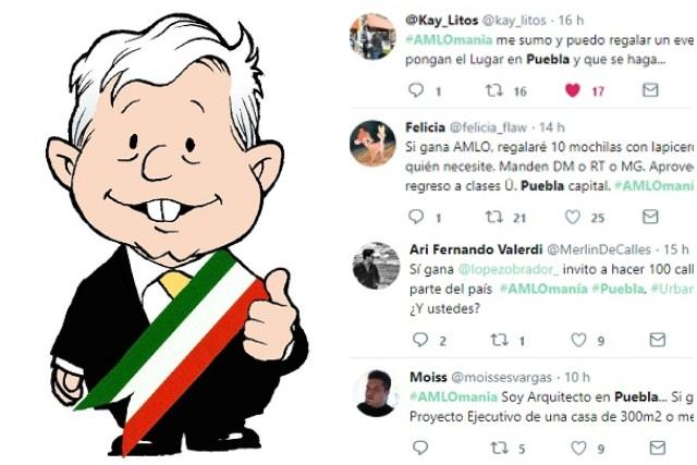 Desde dentistas hasta payasos dan regalos en Puebla si gana a AMLO