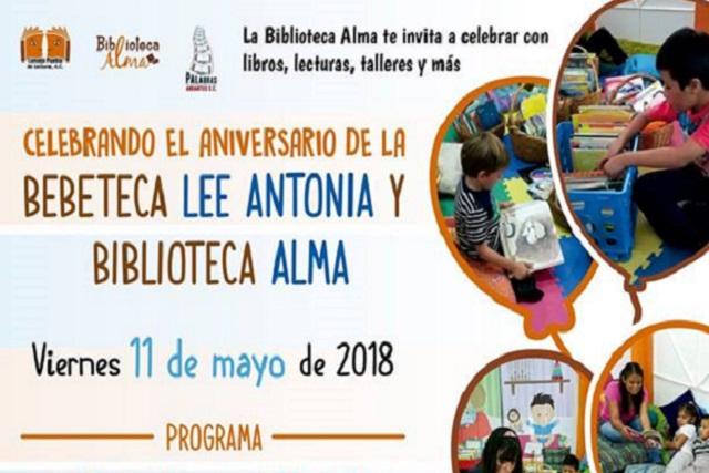 Consejo Puebla de Lectura invita al aniversario de su Bebeteca