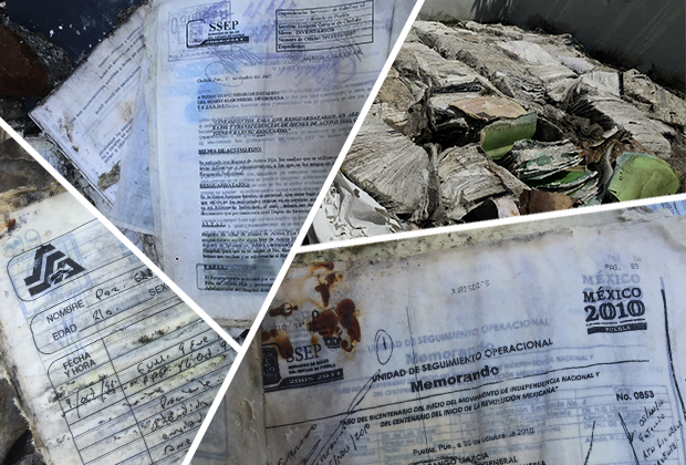 Lanzan a la basura expedientes del Hospital General de Cholula