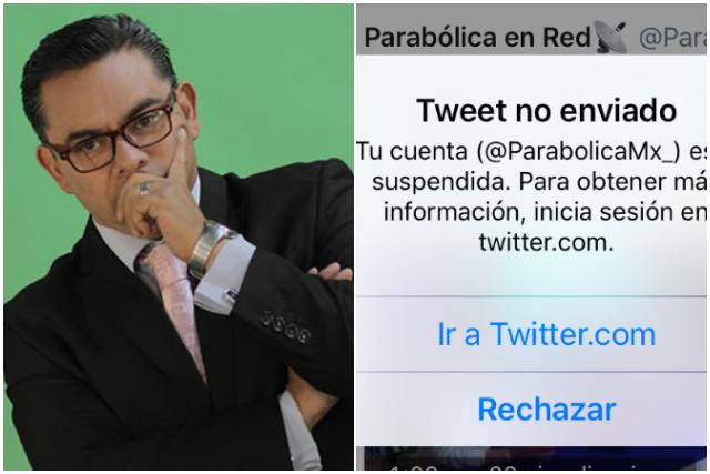 Sin previo aviso, Twitter suspende cuentas de Parabólica Mx
