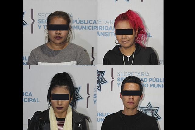 Detienen en Puebla a cuatro asaltantes de transporte público
