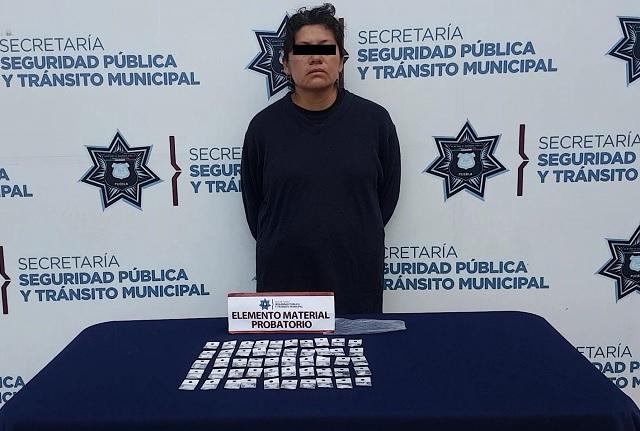 Detuvieron fuerzas municipales de Puebla a 3 personas en posesión de posible droga