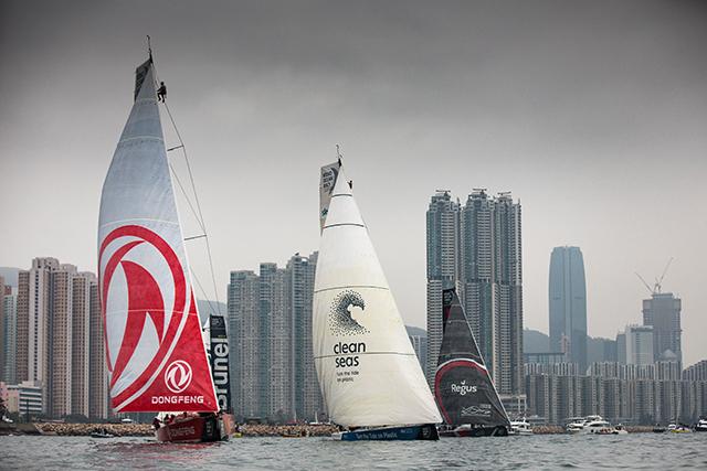 Majestuosa y espectacular recepción a los veleros en HONG KONG