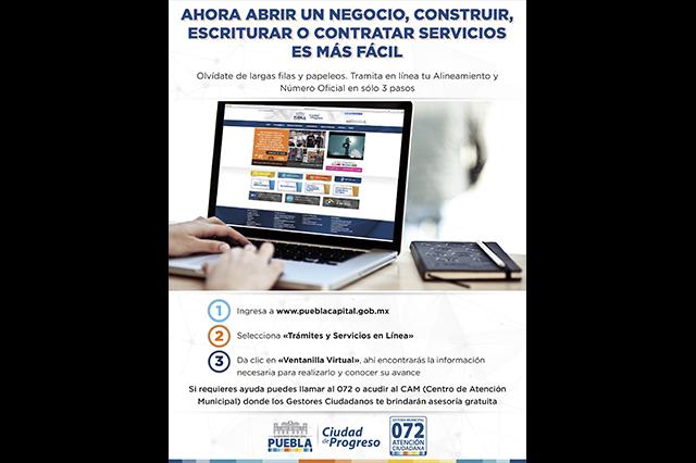 Ayuntamiento de Puebla digitaliza 8 trámites de alta demanda