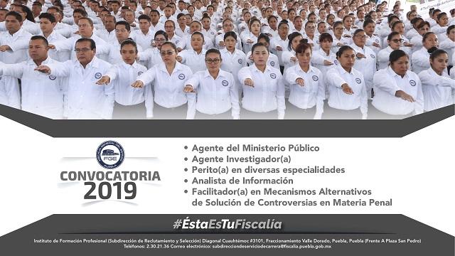 La Fiscalía de Puebla convoca a ocupar más de 200 plazas