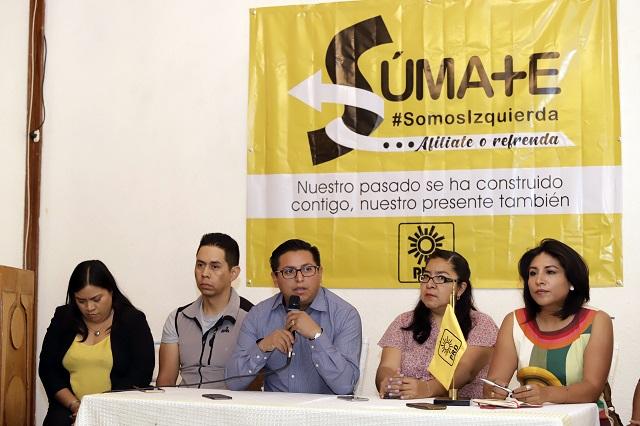 PRD recorta a su dirigencia por baja de recursos en Puebla