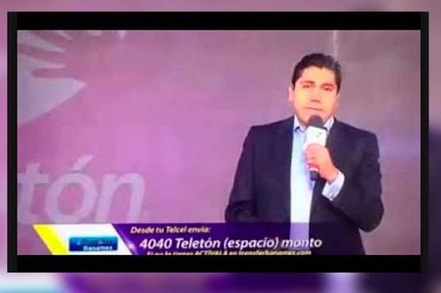 Por promoverse en el Teletón, el PRI denuncia a Jorge Luis Preciado