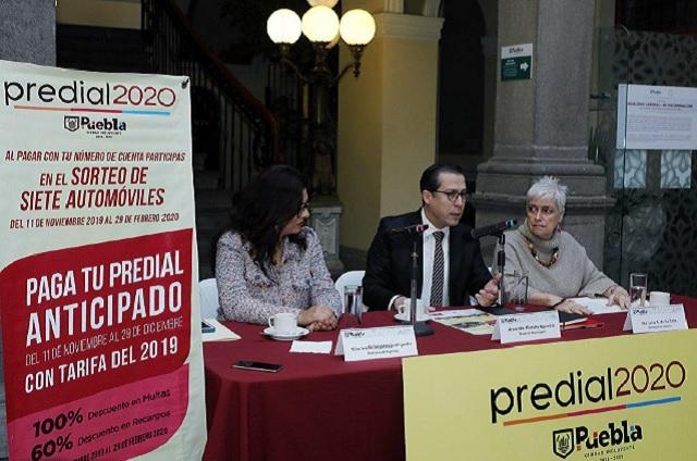 Invitan en Puebla a pagar por anticipado el Predial 2020