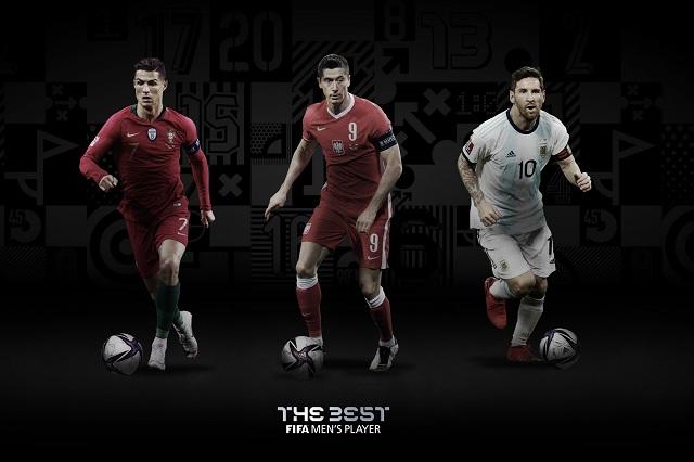 Ronaldo, Lewandowski y Messi, candidatos al premio 'The Best' de la FIFA