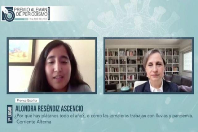 Ella es la mexicana ganadora del Premio Alemán de Periodismo