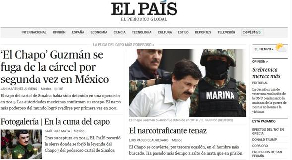 medios internacionales difunden la fuga de el chapo guzm u00e1n