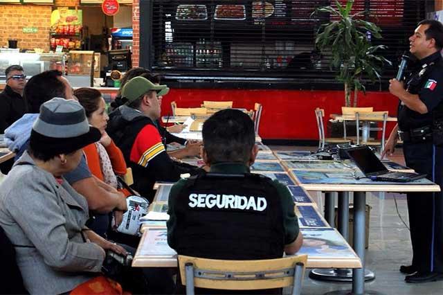 SSPTM capacita a locatarios de centros comerciales para prevenir delitos