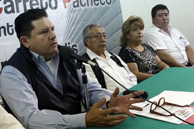 Diódoro Carrasco envía espías a actos del PRI, denuncia Carreto