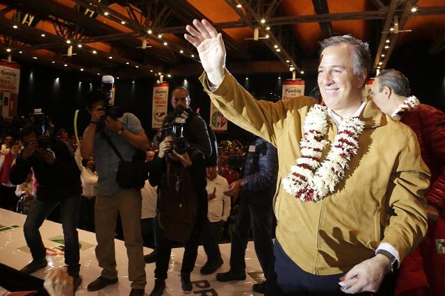 Para Meade en Puebla, 1.2 millones de votos, meta de Carlos Barragán