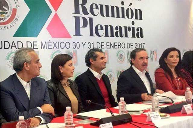 El PRI inaugura Plenaria y pide unirse para enfrentar a Trump