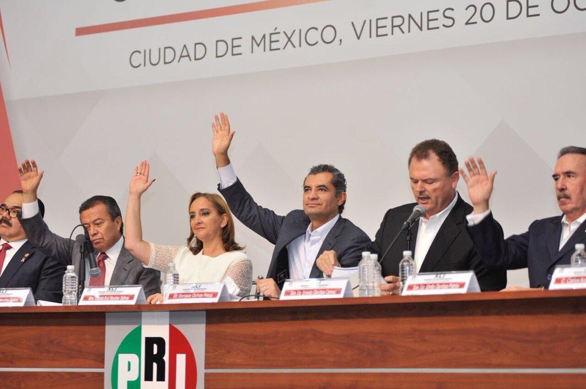 Aprueba el PRI elegir a su candidato presidencial en convención de delegados