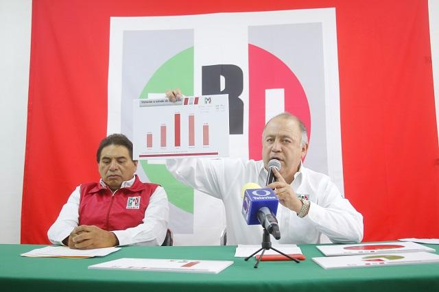 Hasta PRI prevé ganar 160 alcaldías por malos gobiernos de Morena