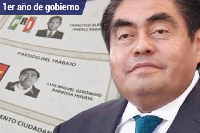Con inseguridad y sin obra ven legisladores 1er año de Barbosa