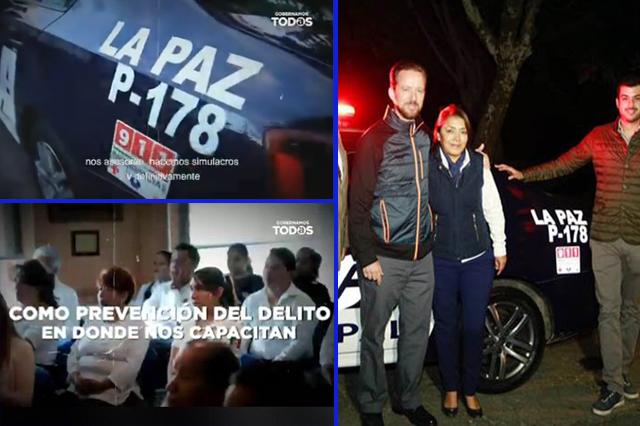 Claudia Rivera presume patrulla que entregó el ayuntamiento anterior