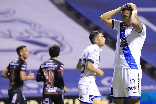 Puebla consuma su primera derrota del torneo; cae en casa ante Xolos
