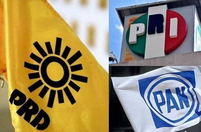 PAN, PRI y PRD deciden cuotas para diputaciones en Puebla