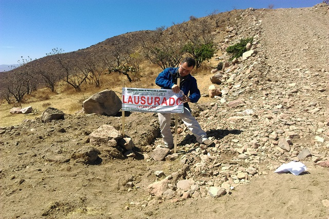 Clausuran en Malacatepec obra inmobiliaria por dañar flora y fauna