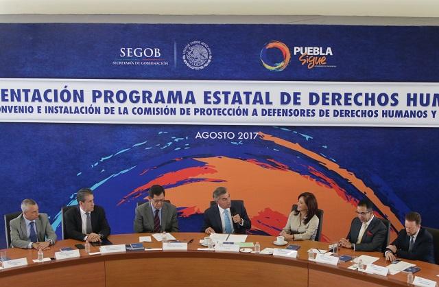 Pobre actividad de Observatorio de Derechos Humanos de Puebla