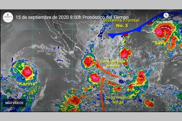 Se esperan lluvias torrenciales en Puebla, Veracruz y Tamaulipas