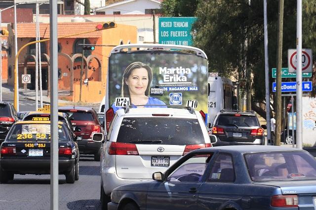 Exonera TEEP a Alonso por propaganda en unidades de transporte público