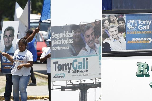 Gali rebasó en 19 por ciento el gasto de campaña: PRI