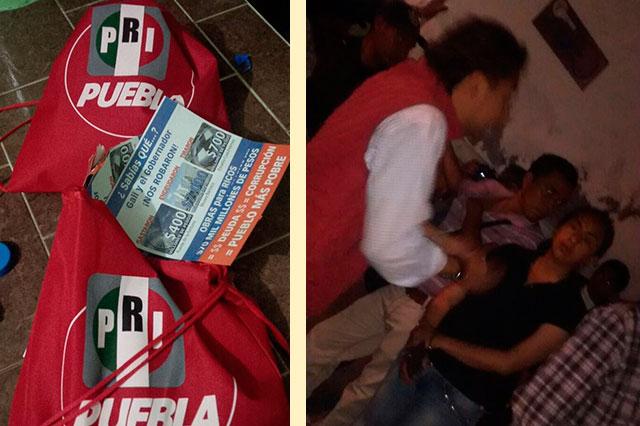 Detienen a brigadistas de Alcalá al repartir volantes contra Gali