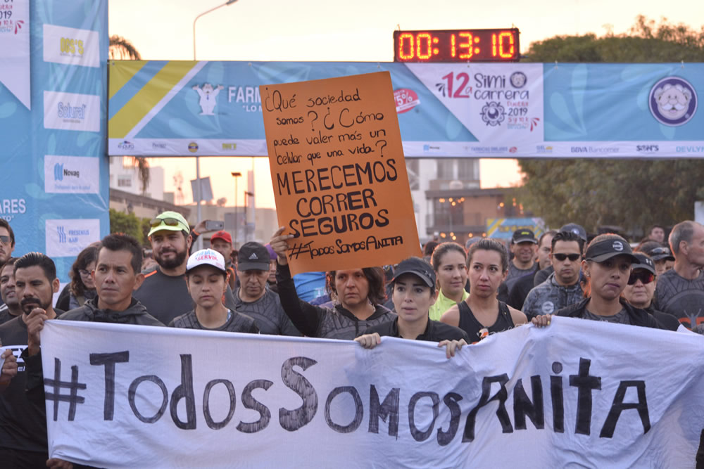 """Corredores exigen mayor seguridad tras el asesinato de """"Anita"""""""