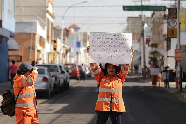 Grupo de naranjitas insiste en desconocer a dirigente sindical