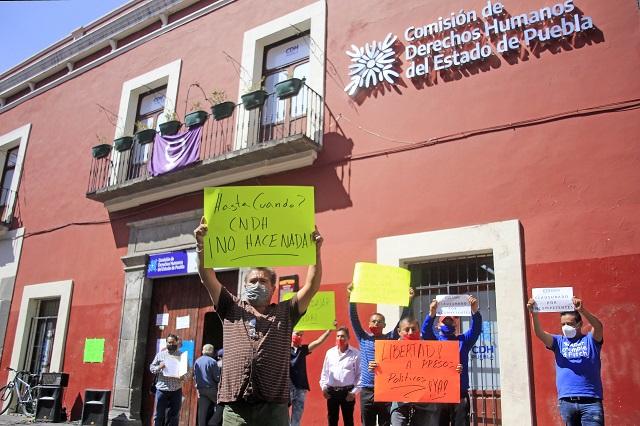 Exigen a CDH Puebla acción ante detenciones en Amozoc