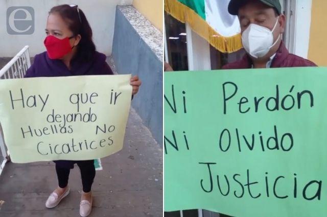 Protestan en Ahuazotepec por liberación de presunto violador