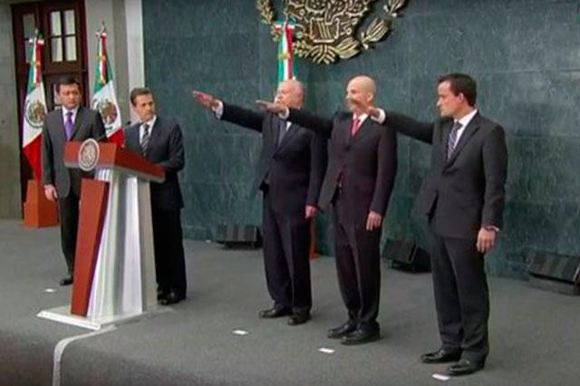 Rinden protesta nuevos titulares de Pemex, IMSS y Salud