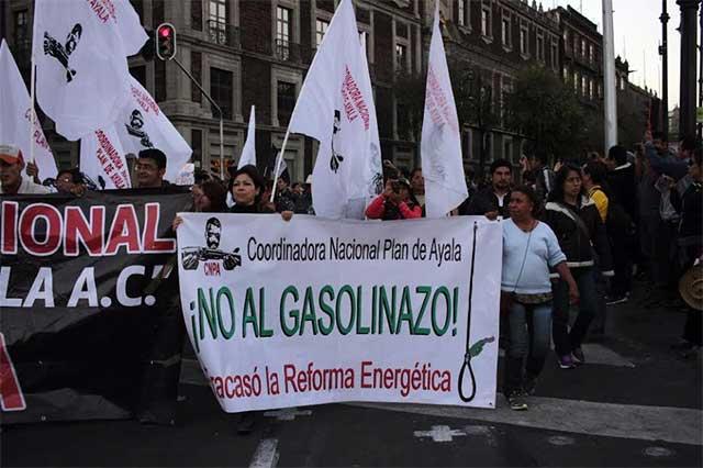 En la CDMX realizarán hoy 3 protestas contra el gasolinazo