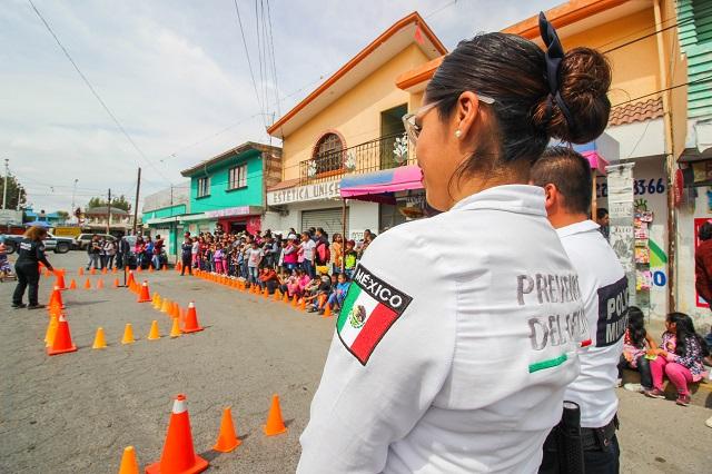 Jornada de proximidad social de SSPTM en la colonia Guadalupe Hidalgo