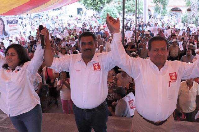 Carlos Navarro aseguró que Chietla está de pie y votará por el PSI