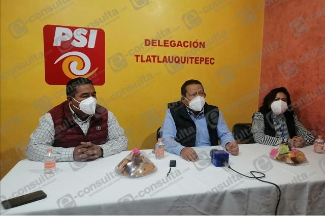 PSI se deslinda de alcalde de Tlatlauquitepec