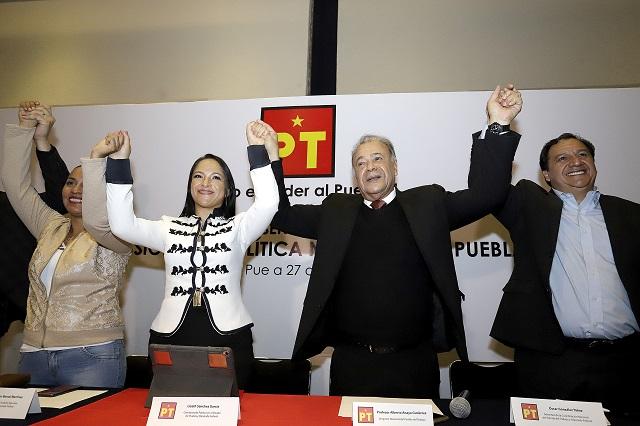 Lizeth Sánchez toma dirigencia del PT y dice que no tolerará chantajes