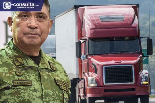 Pone Sedena a Puebla en primer lugar en robo a transportistas